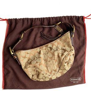 *SALE* Signature Bronze & Snake Coach Hobo Bag